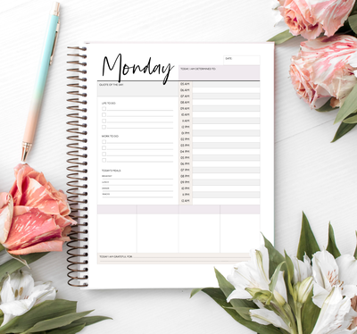 flowers-monday-planner
