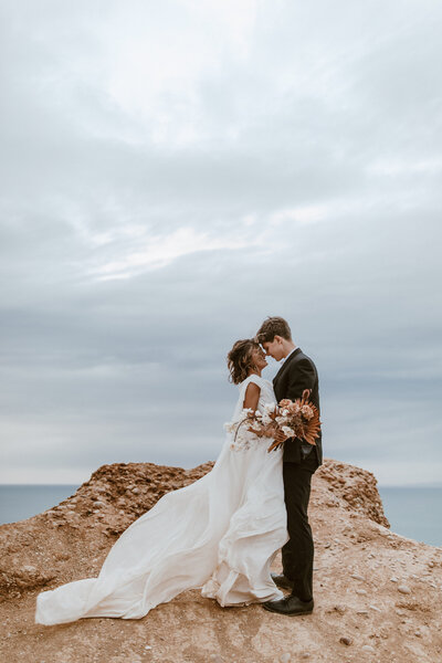 Kacee + Zac _ San Diego Cliffside Elopement _ Alison Faith Photography-6889
