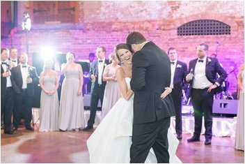 first dance wedding reception downtown Greenville South Carolina