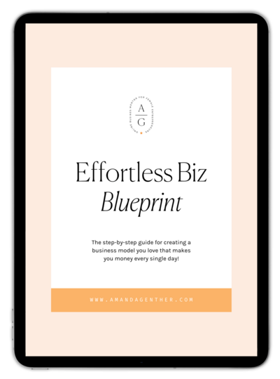 Effortless Biz Blueprint - Freebie ipad Mockup