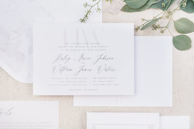 My Custom Design option is the most personalized and unique way to design your wedding paper goods.