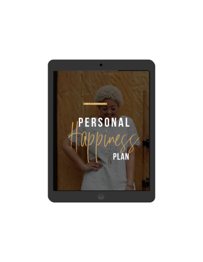 Personal Happiness Plan downloadable resource on iPad