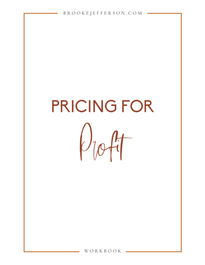 Pricing for Profit Workbook