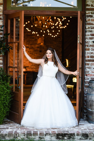 Bride at Greengates Farmhouse, Laurel, MS Wedding
