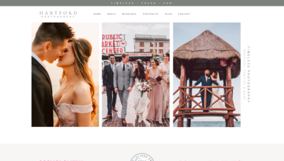 Modern ShowIt Website Template for Photographers - Hartford by Kyle Goldie