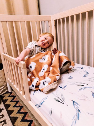Luxury Australian Eucalyptus Minimal Baby Toddler Crib Sheet Gift - Wombat & Friends