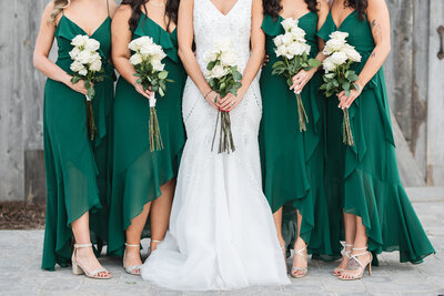 Loverly Weddings Bride and Bridesmaids