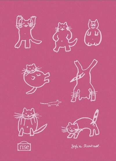 Pink Cats Torchon