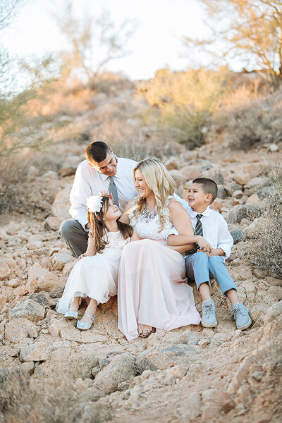 Family Pictures in the desert