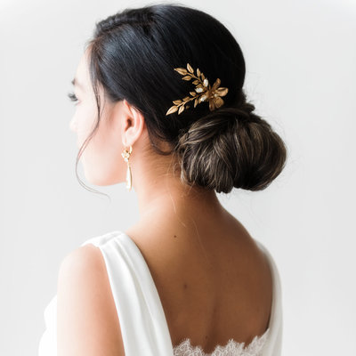 Maliyah Bridal Haircomb gold and Swarovski Crystals (2)