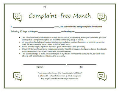 Complaint free month contract