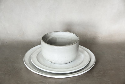 white hearth pottery dinner set