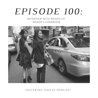Wendy's Lookbook on the Fostering Voices Podcast talking about foster care