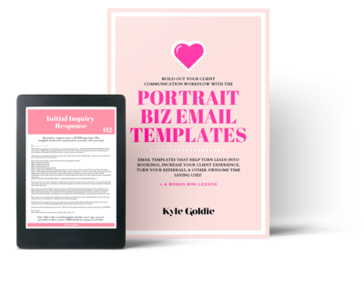 Portrait Business Email Templates Mockup Kyle Goldie Clear