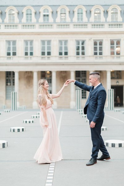 Paris, France Anniversary Session photographed at Palais Royal by France Destination Photographer, Alicia Yarrish of Alicia Yarrish Photography