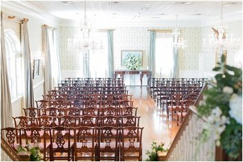 wedding ceremony at the poinsett club