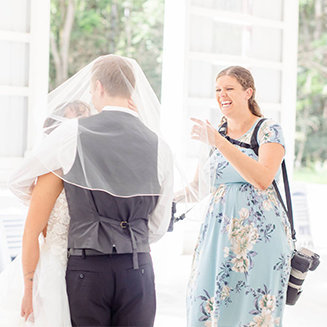 behind the scenes of Grand Rapids Wedding Photographer