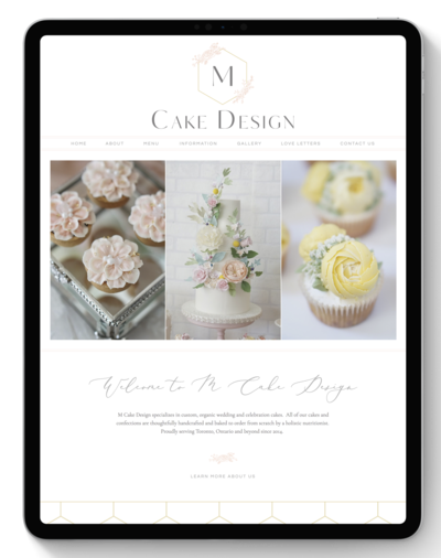M Cake Design Website After Transformation