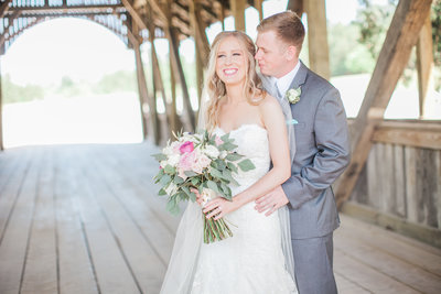 Bride and Groom portraits at Big Sky Barn Wedding