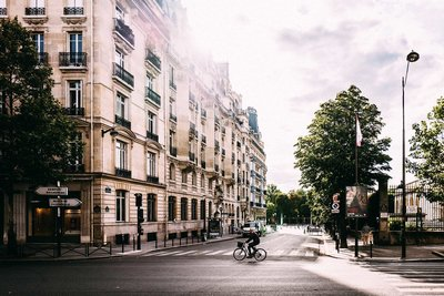 A photograph of the streets of Paris
