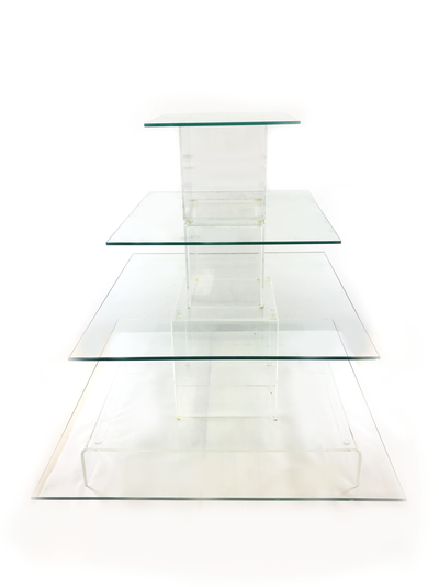 Whippt - clear glass rental stand