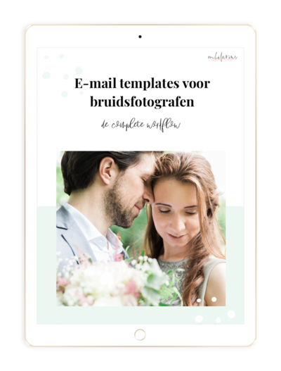 Mock up E-mail templates bruidsfotografie