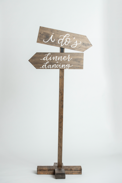 Wooden Directional Arrows Sign