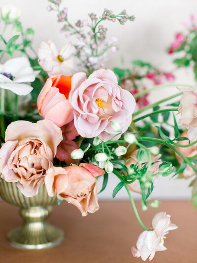 Wedding Cake with Anemones by Studio Fleurette