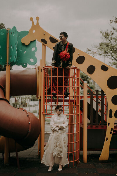 couple in the playground