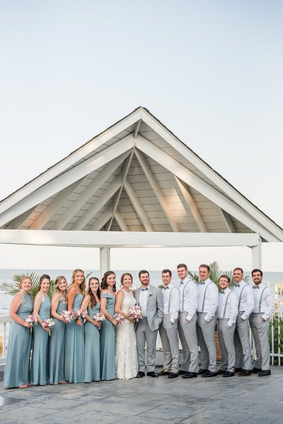 Summer Wedding at Kurt'z Beach Maryland | Lindsey Markle Photography