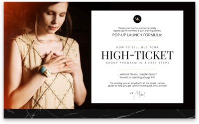 Merel Kriegsman How to Sell High Ticket TY