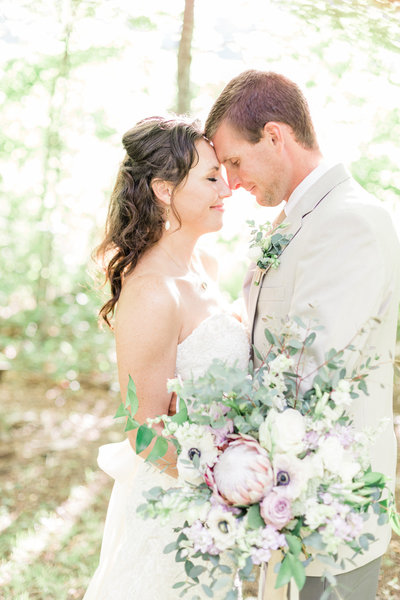 Beautiful bride and groom on their wedding day in Cashiers NC - Corey Johnson Studios Cashiers Wedding Photographer