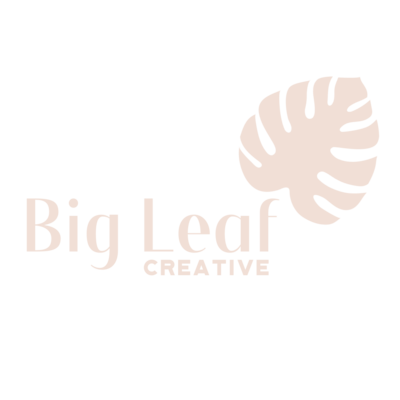 Big Leaf Creative Logo design pink