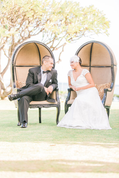 Oahu oceanfront estate, Destination Wedding Bridal Portrait, photo by Fine Art Film Destination Wedding Photographers, Evonne and Darren Photography