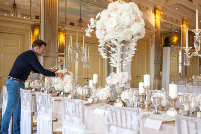 Styling wedding dinner Amstel hotel