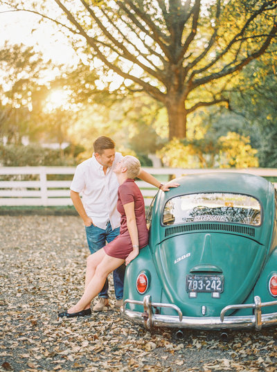 Fall engagement portraits in Williamsburg, Virginia by Chrissy O'Neill of Chrissy O'Neill & Co. - destination wedding and elopement photographers based in Jupiter, Florida
