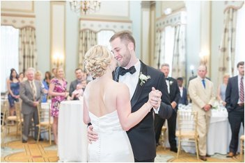 first dance in ballroom at The Westin Poinsett