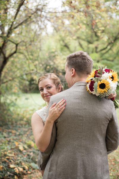 Fall wedding in the Virginia mountains