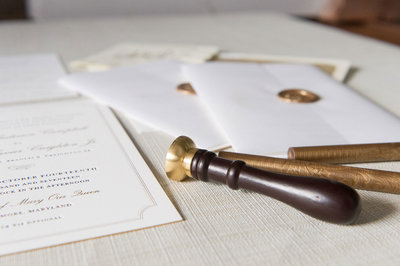 Ashley-InvitationDetail-Letterpress-WaxSeal-ElkridgeClub