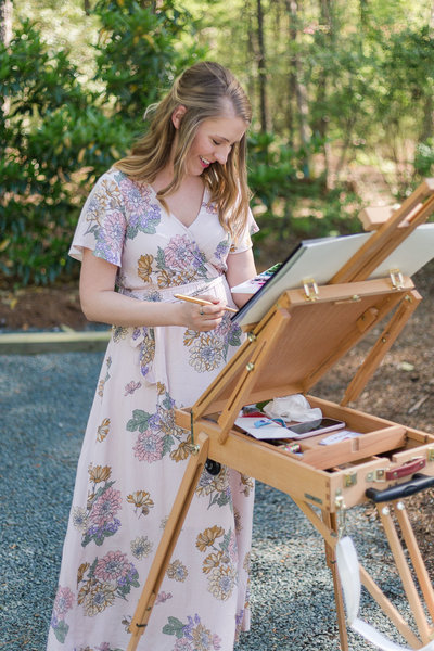 Live Wedding Painting Raleigh NC Travel Destination Wedding Live Painter