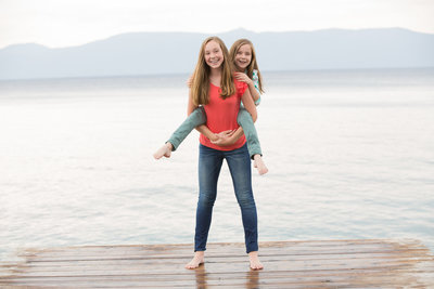 Sisters on the Lake Photography