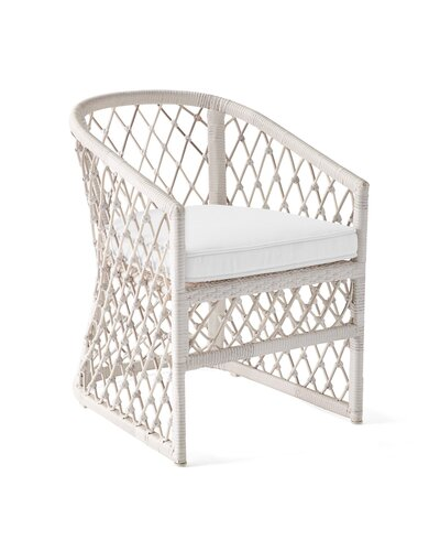 White Driftwood Coastal Serena and Lily Dining Chair Outdoor