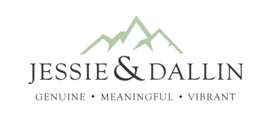 Jessie and Dallin Photography logo at the footer of the page