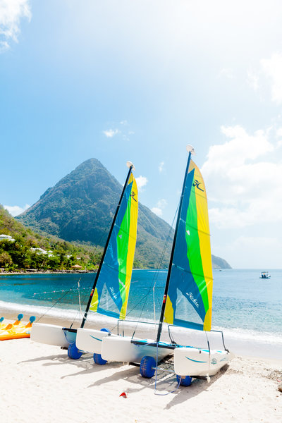 Sugar Beach Viceroy engagement photos | St Lucia wedding photographer Luma Weddings