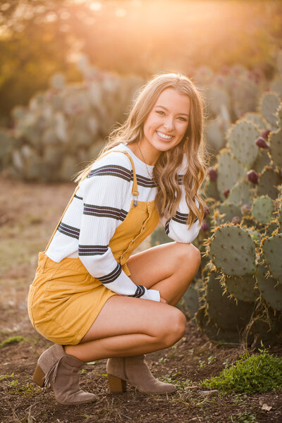 fall sunset senior session by cacti