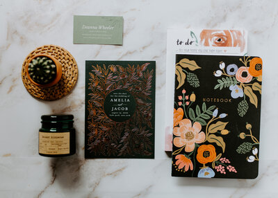 Notebook Flatlay Olive Branch Events Co.