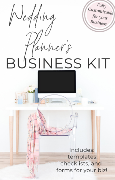 wedding event desk wedding planner business kit