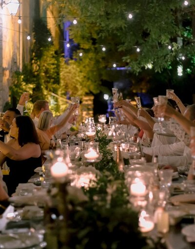bride holding a bouquet during her wedding in paris