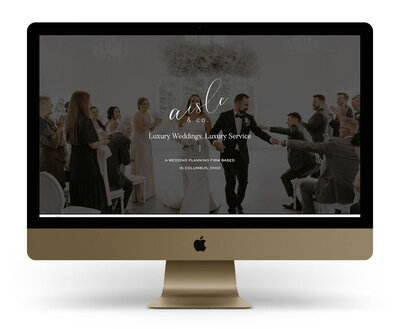 Custom Showit Website Design Mock Up for Moxie Bright Events, a Los Angeles Wedding Planner