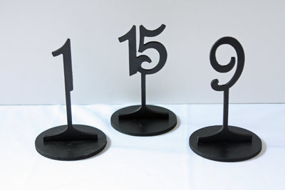 01020_Black Wood Stand Table Numbers